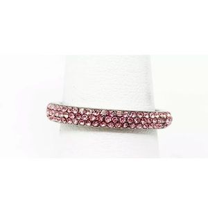 Henri Bendel pink crystal stacking ring size 8